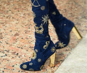 blue, galaxy, and heels image