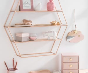 rose gold, pink, and room image