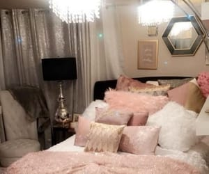 bedroom, rose, and white image