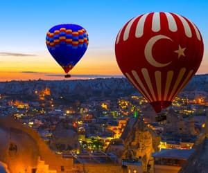adventure, balloon, and travel image