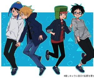 best friends, creek, and style image