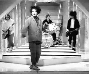 gif, the cure, and robert smith image