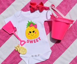 baby onesie, cute baby clothes, and pineapple onesie image