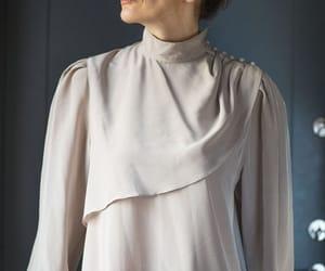 etsy, ruffle blouse, and long sleeves blouse image