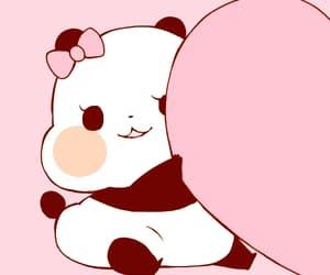 couple, panda, and love image