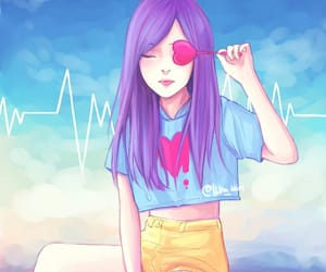 art, colorful, and drawing girl image