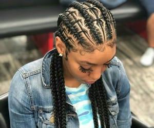 braids, fashion, and laid image