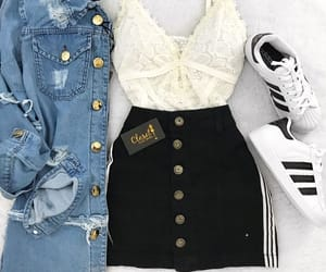 girl, fashion, and jean image