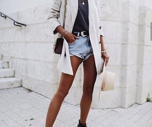 blazer, jeans, and boots image