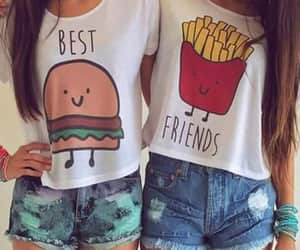 besties, bff, and friends image