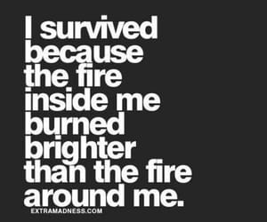 quotes, fire, and survive image