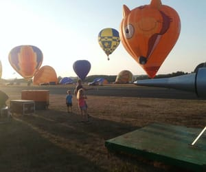 escape, hot air balloon, and balloon image