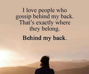 gossip, fake friends, and quotes image