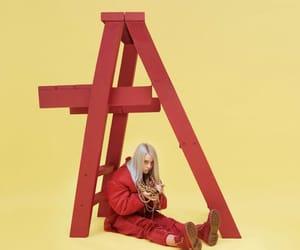 billie eilish, red, and album image