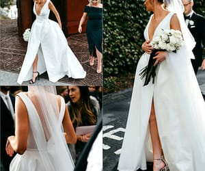 beautiful, bride, and chic image