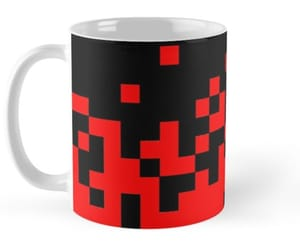 fire, mugs, and red image