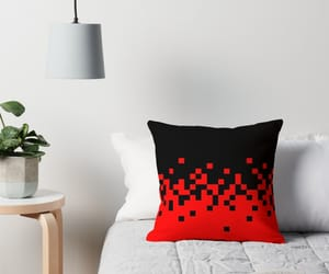 fire, pillows, and red image