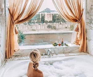bath, travel, and view image