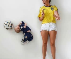 bebé, fútbol, and bonito image