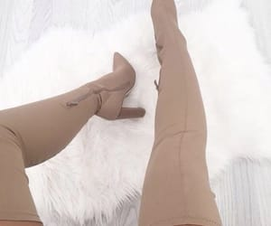 boots, brown, and heels image