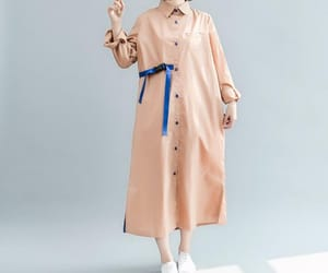 shirt dress, apricot maxi dress, and shirt collar dress image
