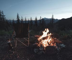 camp fire, Road Trip, and camping image