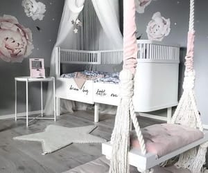 bedroom, home, and child image