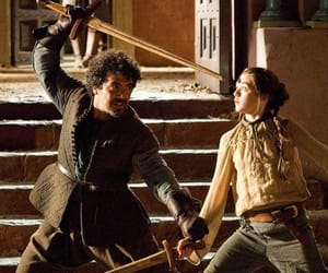 game of thrones, syrio, and stark image