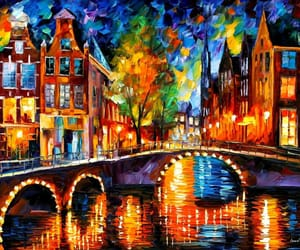 art, leonid afremov, and bridge image