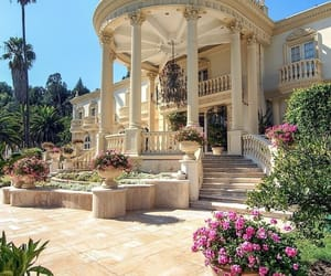 flowers, house, and mansion image
