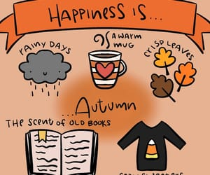 autumn, happiness, and leaves image