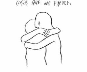 abrazo, sentimientos, and amor image