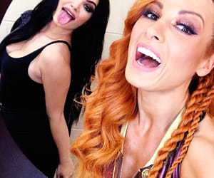 paige, becky lynch, and wwe image