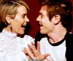 gif, evan peters, and sarah paulson image