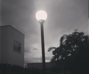 black and white, scare, and light image