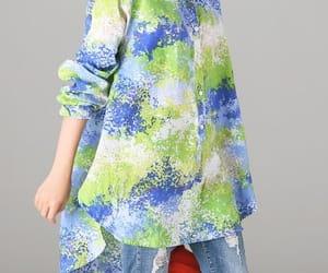 blue shirt, casual shirt, and linen top image