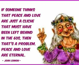 hippies, peace and love, and the 60's image