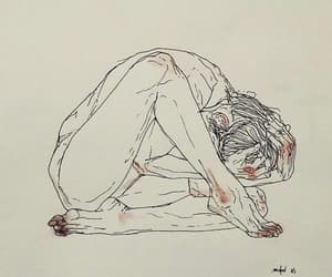 alone, pain, and sad image