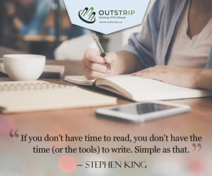 authors, Stephen King, and writing tips image