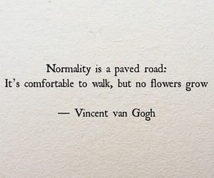 quotes, vincent van gogh, and normality image