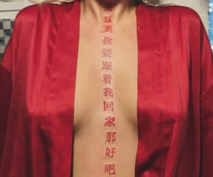 aesthetic, red, and tattoo image