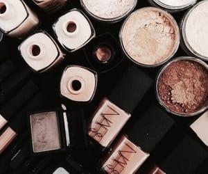brown, theme, and makeup image