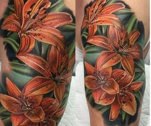 flowers, pretty, and tattoo image