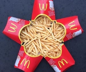 French Fries and mcdonald image