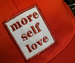 red, aesthetic, and self love image