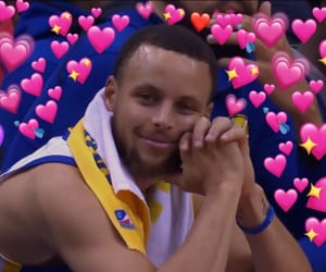 stephen curry, reactions, and love image