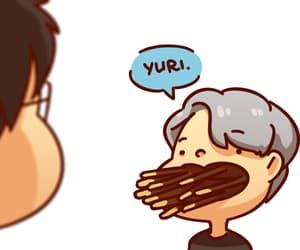 yuri on ice, funny, and yuuri katsuki image