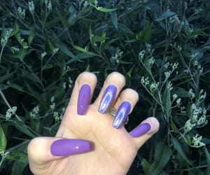 girly, holographic, and nails image