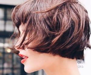 blunt, bob haircut, and gold image