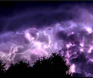 lightning, purple, and wallpaper image